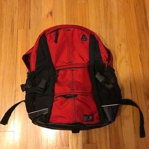 Red backpack Gap